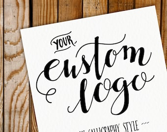 Custom Calligraphy Logo Design // Hand Lettering // Small Business //