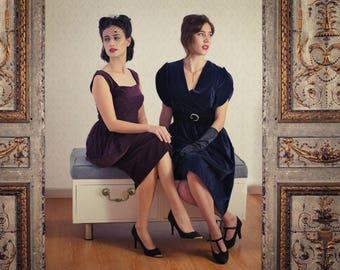 Dress - Burgundy velvet BURDEOS VELVET DRESS
