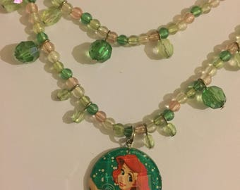 Vintage The Little Mermaid Necklace, 1990s Walt Disney
