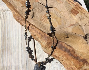 Larvikite Pendant Necklace