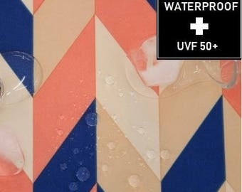 WATERPROOF fabric - by Yard (150cm Width), Geometric Pattern