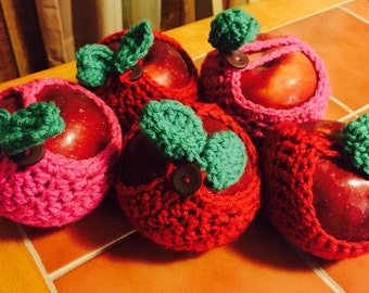 Crochet Apple Cozy *great teacher gift*