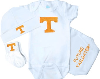 Tennessee baby etsy tennessee volunteers 3 piece baby clothing gift set negle Image collections