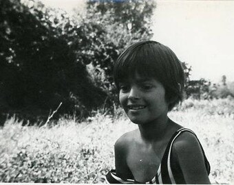 Original 1960s  Black & White photograph of a Little Girl ~ B236 Serbia