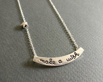 Make a wish. Necklace.