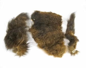 Buffalo Fur By the Pound Bison Pelt Fur Hide furry tanned leather taxidermy scrap craft pieces