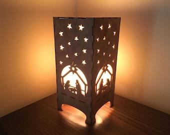 Lantern with Manger Scene, Holiday, Christmas, Religious