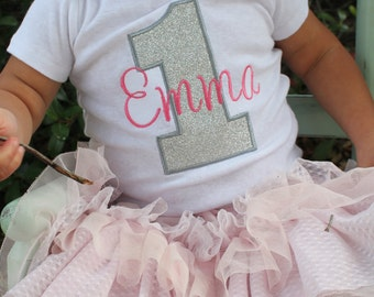 First Birthday Shirt - Girls First Birthday Shirt - First Birthday Bodysuit - First Birthday Outfit