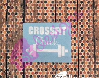 Crossfit Chick decal