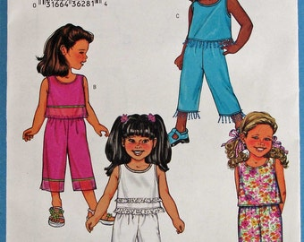 Girls Top and Pants Butterick 3789