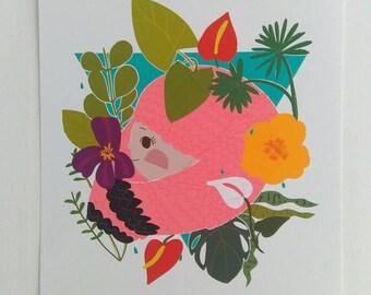 Print -Tropical Bliss-