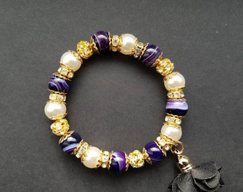 Agate Beads Braclet Natural Stone Gold Details