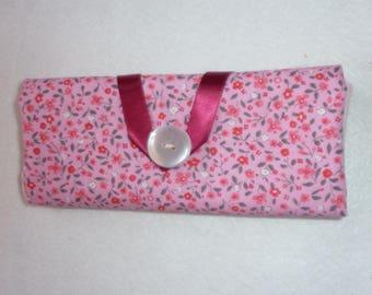 Pockets for barrettes and elastics floral Rose