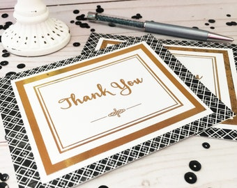 Thank You Cards Set of 2 - Professional Thank You Card - Customer Thank You Card - Professional Business Thank You - Greeting Card