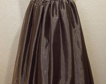 JESSICA McCLINTOCK Ballgown size 12 Gold Black Gown Bridesmaid Dress Gothic ballgown Steampunk gown
