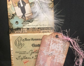 Vintage Altered Library Card Pockets- Individual