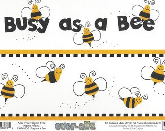 Busy as a Bee Overall Page Topper ~ EK Success