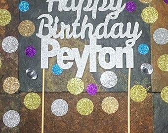 Birthday Cake Topper/Happy Birthday Custom Name Cake Topper/Custom Birthday Cake Topper