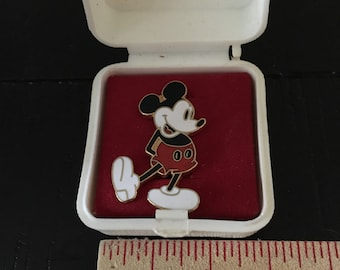 Vintage Mickey Mouse Pin in Original Case