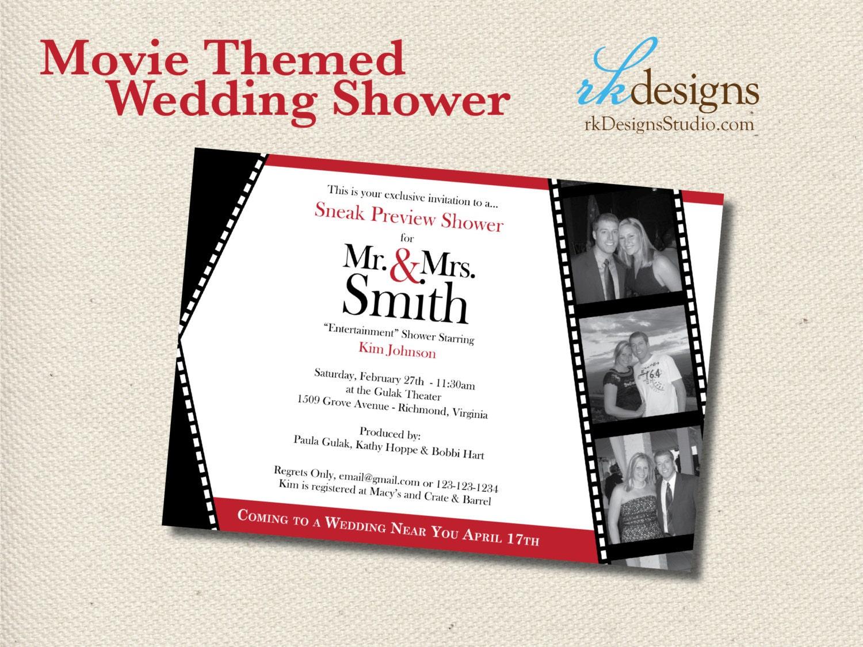 Movie Themed Wedding Shower Invitation DIGITAL FILE