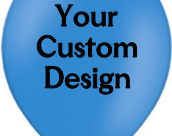 Your Custom Design personalised/personalized printed balloons for any Occassion