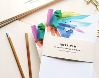 Note pad - Watercolor Splash