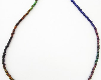 "One 18"" Mirage 3mm Bead Necklace - stocking stuffer!"
