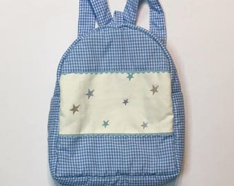Backpack Vichy and stars