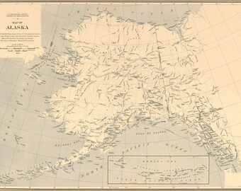 Poster, Many Sizes Available; Map Of Alaska 1909