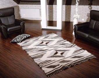 Wool Rug Area Rug Wool Area Rug Wool Rugs Sofa Throw Floor Rug Hand Woven Rug Bedroom Rug Living Room Rug Scandinavian Rug Nordic Carpet Rug