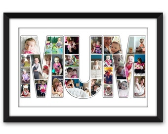 Mum - Mothers Day Custom Photo Collage - Mothers Day Gift - Birthday - Maternity - Family Wall Art - Home Decor - Digital Printable - Mummy