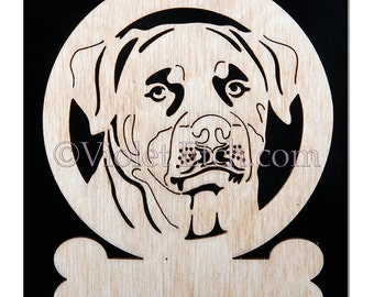 Rottweiler Ornament-Rottweiler Gift-Wood Rottweiler Ornament-Free Personalization