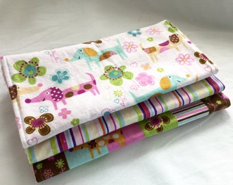 Pretty Little Puppy- Burp Cloth Gift Set for Baby Girl