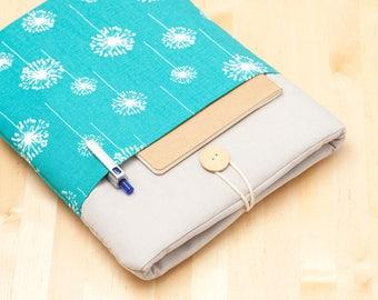 iPad Pro 12.9 sleeve, iPad Pro 12.9 case, 12.9 inch iPad Pro case,  iPad Pro cover - Blue dandelion