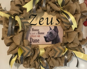 Personalized Pet Wreaths