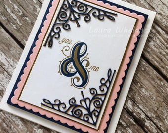 You & Me Romantic Handmade Card