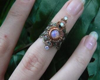knuckle ring armor ring midi ring nail ring claw ring nail tip ring finger tip ring  vampire goth victorian moon goddess pagan boho gypsy