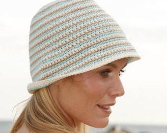 Handmade Cotton crochet hat, choose your colors