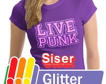 LOWER PRICES!!! Siser Glitter Heat Transfer Vinyl Sheets, Mix and Match