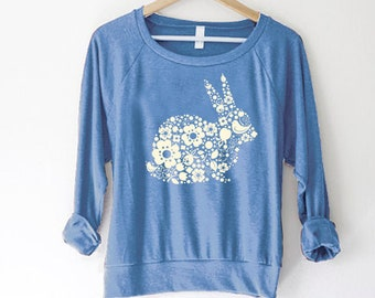 Easter sweater - Bunny sweater for women - Easter shirt women -  Easter sweater adult - Peeps shirt - Easter sweatshirt for women, rabbit