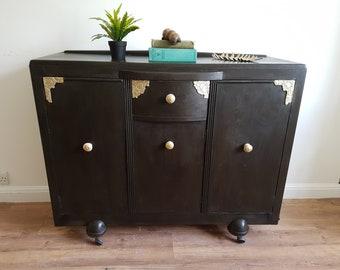 Stunning Vintage Art Deco Sideboard Dresser