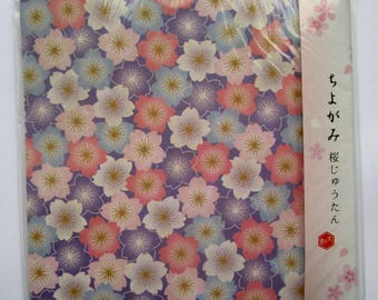 15 chiyogami origami paper x 15 cm 4 color patterns flowers 60 sheets