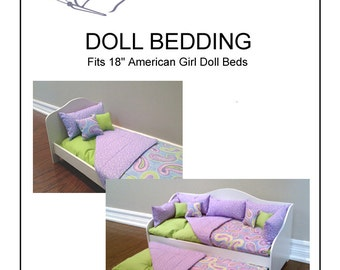 """Doll Bedding Pattern fits 18"""" American Girl Doll Bed"""