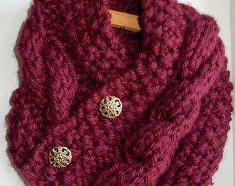 Cowl Knit Scarf