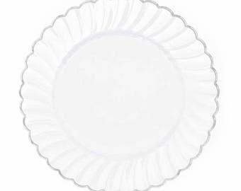 Wedding PlatesSet of 20 PlatesNice Plastic PlatesWhite Dessert Plates  sc 1 st  Etsy & Antique Cake Plates/6 Dessert Plates/ C T Altwasser/Pink Rose