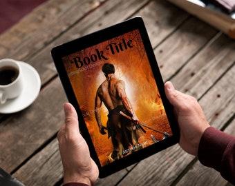 "Premade Ebook Cover ""Flamming Warrior"" Fiction Literary Fiction Romance Adventure"