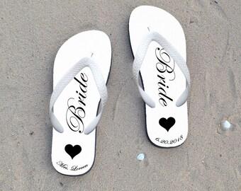 wedding flip flops,personalized bride flip flops,personalized flip flops for wedding party