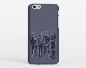 Blue Direction Phone Case iPhone Samsung Gloss Matte Tough Flip Slip One Direction Harry Styles Louis Tomlinson Liam Payne Niall Horan
