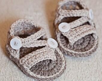 Crochet PATTERN  - Modern Flip Flops