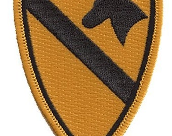 """The 1st CALVARY PATCH, Superior Quality Iron-On / Saw-On Embroidered Patch - 3.5"""" x 2.25"""" - Made in the USA"""